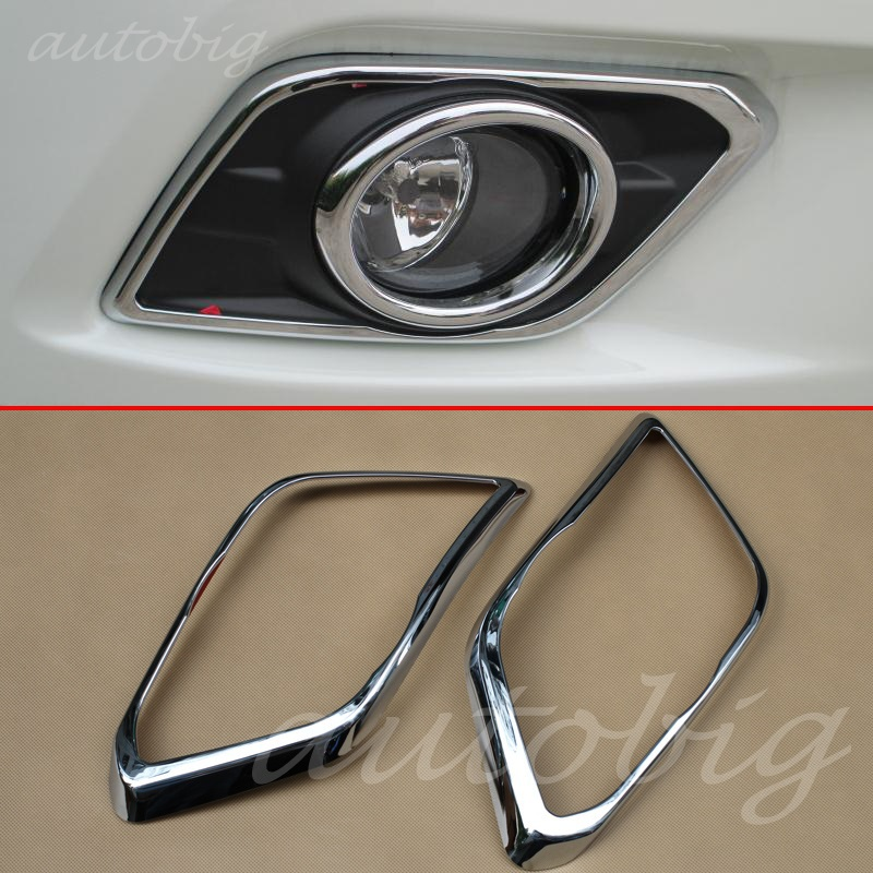 Buy Chrome Front Fog Light Lamp Cover Trims FOR Nissan X-Trail Rogue T32 2014 2015 2016 Chromium Styling Foglight Accessories for $15.84 in AliExpress store