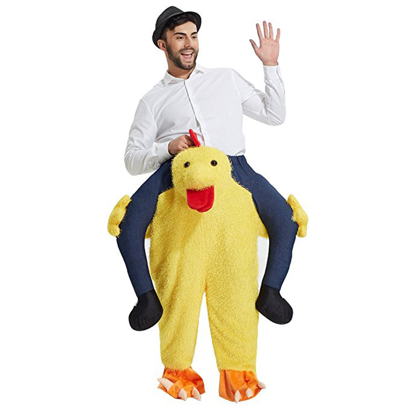 JYZCOS Ride on Chick Costume Animal Mascot Costume Funny Pants Halloween Purim Ride on Me Costume Props in Holidays Costumes from Novelty Special Use