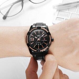 Image 4 - Naviforce montre à Quartz pour hommes, de marque de luxe, étanche, en acier inoxydable, horloge à Quartz