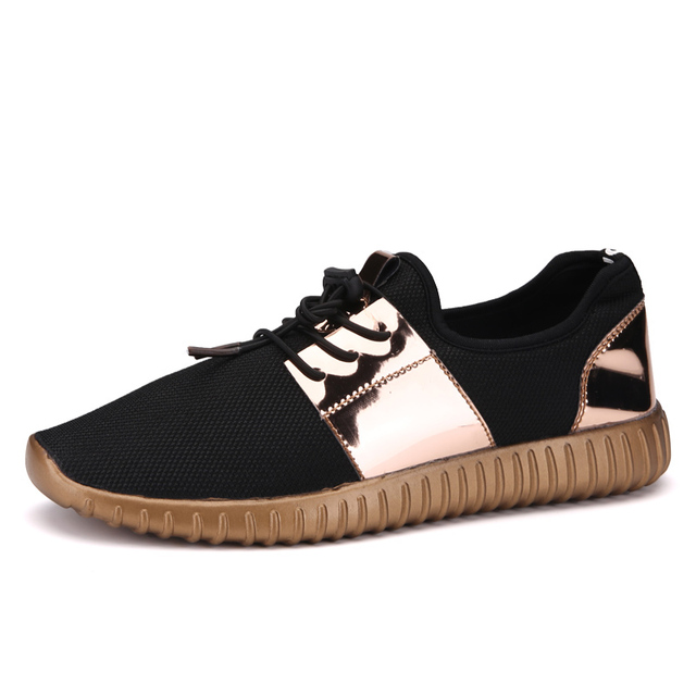 2017 Gold Fashion Breathable Men Casual Shoes Basket Femme Flats Tenis Feminino Mens Trainers Zapatillas Deportivas Mujer