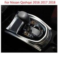 Para nissan qashqai 2016 2017 2018 decoração interna abs caixa de engrenagens interior decorativo lantejoulas chrome guarnição capa