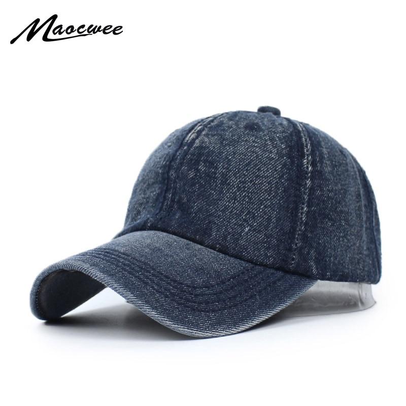 Unisex Cowboy   Baseball     Cap   Fall Casual Sanpback Dad Hats for Men and Women Outdoor Sport Denim Jeans Hip Hop Trucker   Cap   2017