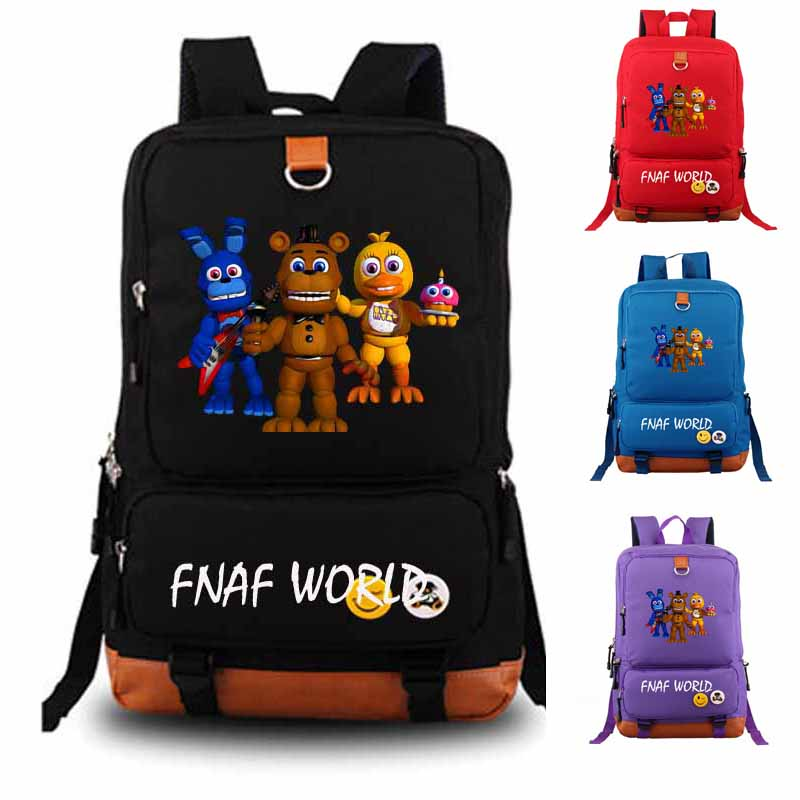 Five Nights At Freddy s Backpack fnaf world student school bag Notebook backpack Leisure Daily backpack