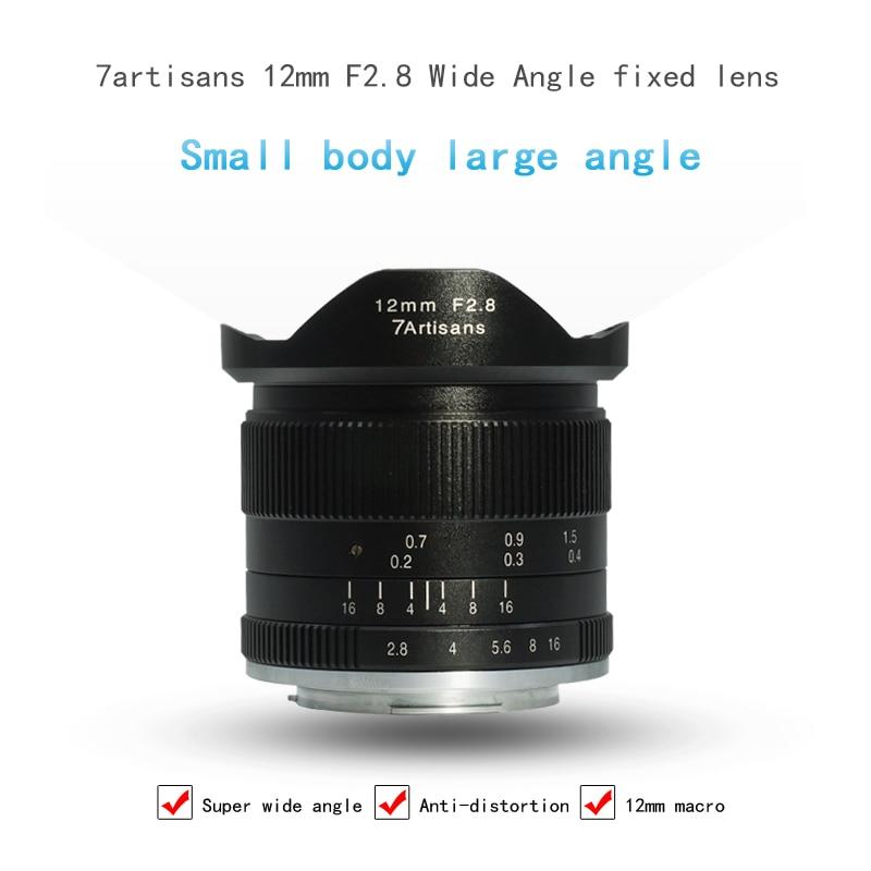 7 ремесленников 12 мм F2.8 Камера объектив ультра Широкий формат Micro один объектив с фиксированным фокусным расстоянием для Canon для sony для Oympus e-...