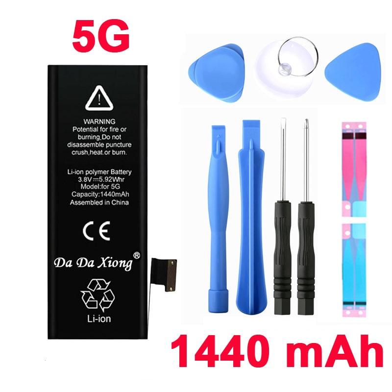 Xiong Da Da Marca 100% original Genuine 1440mAh Li-ion para Celular Substituição de Bateria Pack para iPhone 5 5G