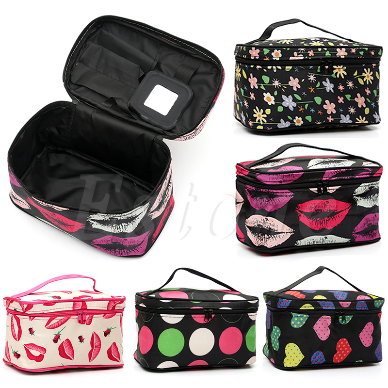 THINKTHENDO Women Makeup Cosmetic Case Toiletry Bag Travel Handbag Storage Organizer Bag New new women fashion pu leather cosmetic bag high quality makeup box ladies toiletry bag lovely handbag pouch suitcase storage bag