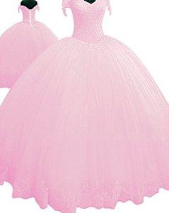 Image 4 - Vestido angsbridep ball quinceanera, vestido de baile com apliques bonitos, conjunto completo para mulheres 16 debutante 2020