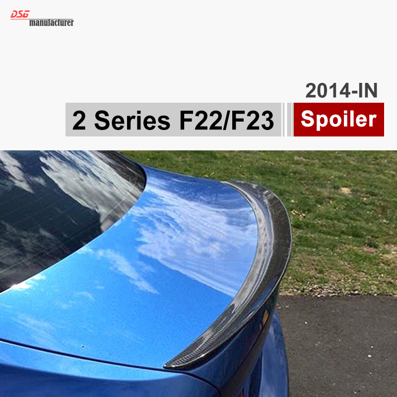 F22 coupe F23 convertible Carbon Fiber Trunk Spoiler Rear Car Wing for BMW 2 Series 218i 220i 225d 228i M Performance Style 2 series carbon fiber car front bumper lip spoiler for bmw f22 m sport coupe only 14 17 convertible 220i 230i 235i 228i p style