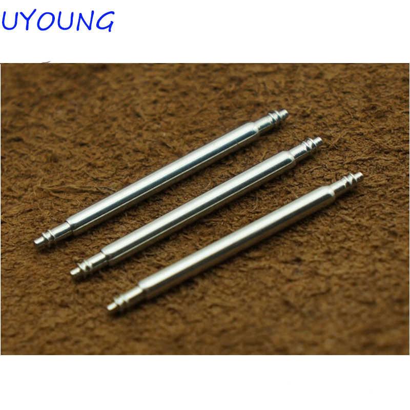 Tonton Aksesoris 1.5 Tebal Kulit Watchband Steel Telinga Kotak Meja Menghubungkan Poros Semi Poros Mentah Telinga Rod