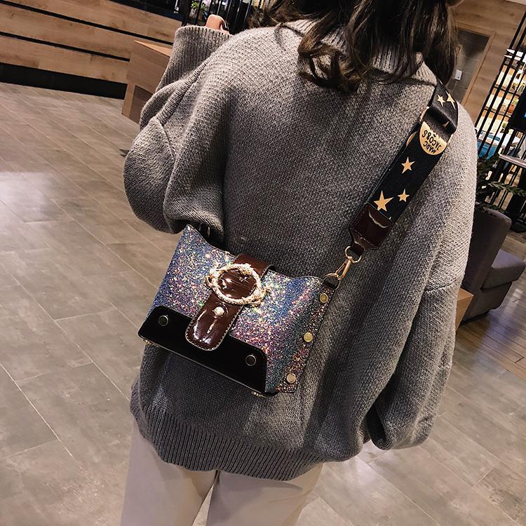 Women Patchwork Handbag Crossbody Bag Soft Leather Square Casual Ladies Chain Shoulder Girl Chain Messenger Satchel Bag louis 31