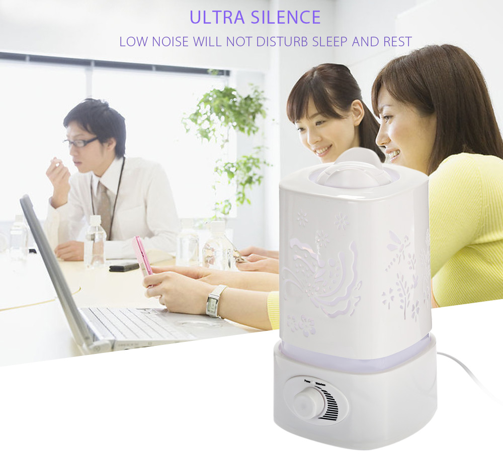 US $19 69 30% OFF|Fimei 5 in 1 Multifunctional Ultrasonic Humidifier Aroma  Humidifier Aroma Oil Diffuser Air Purifier Ioniser LED Light Lamp 1 5L-in