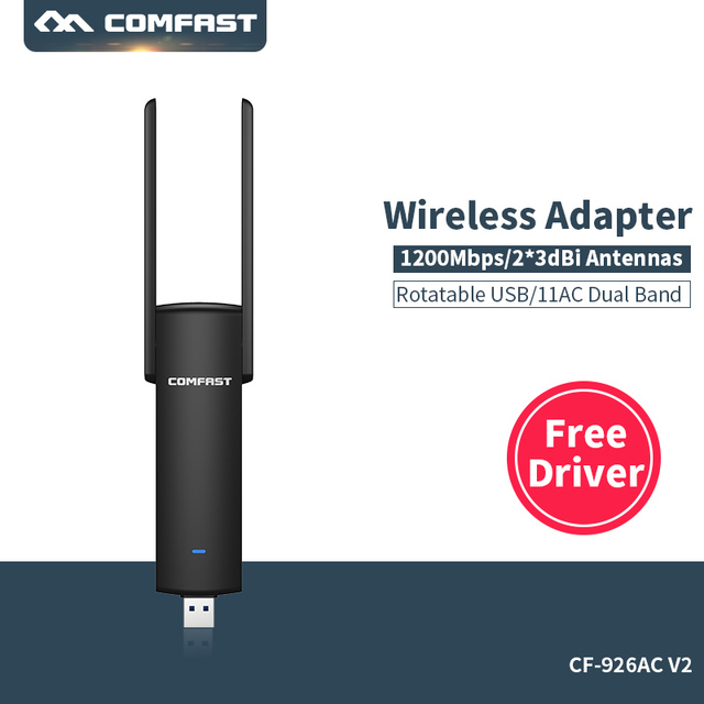 usb wifi adapter Free driver Wireless adapter AC Network Card Dual Band 5 Ghz+2.4GHz Wi-fi dongle wifi receiver 802.11b/n/g/ac