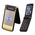Newmind v518 tirón vibración dual de doble pantalla de teléfono móvil celular móvil de alto nivel teléfono Dual SIM MP3 MP4 teléfono celular para personas mayores P078