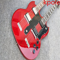 New arrival Kpole double necks 1275 model electric guitar Wine Red Jmy Page style 12/6 strings electric guitar free shipping