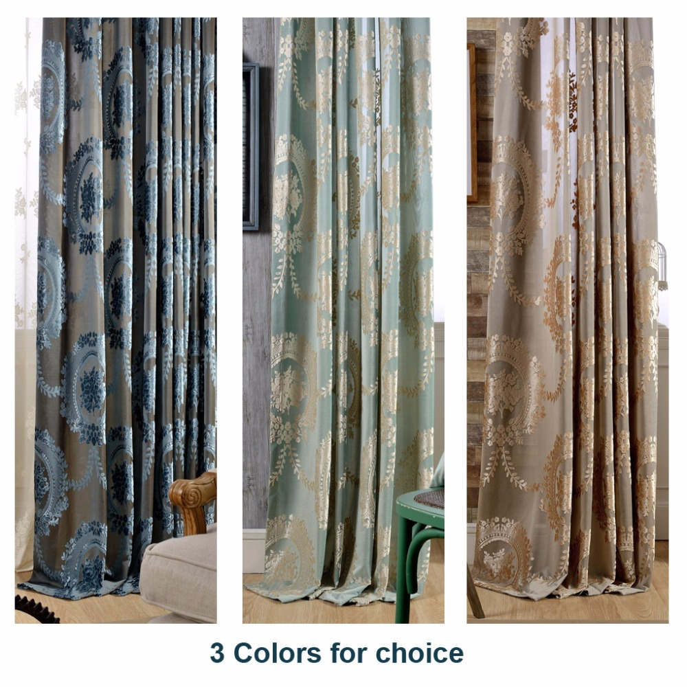 (1 piece) Readymade bedroom curtains LR-jingyuan Europe modern velvet home blackout & Compare Prices on Readymade Doors- Online Shopping/Buy Low Price ... Pezcame.Com