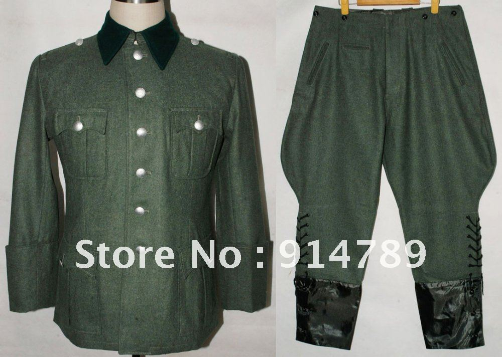 WWII GERMAN M36 OFFICER WOOL FIELD UNIFORM TUNIC & BREECHES IN SIZES -32068