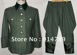 Wwii duitse m36 officer wol veld uniform tuniek & rijbroek in maten-32068