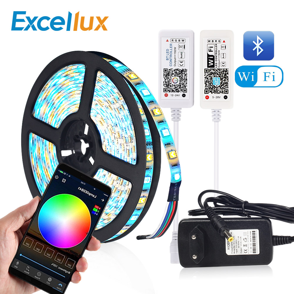Flexible Led Strip Bluetooth Wifi Magic Home Led Controller Led Ribbon 5050 RGB RGBW RGBWW Led Strip Light APP Control Backlight