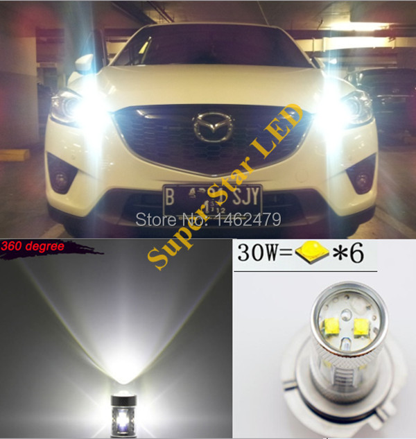 2pcs 6000K Xenon White High Power for  Cree Chips  LED P13W PSX26W Bulbs For car Mazda CX-5 2012- 2014  Daytime Running Lights deechooll 2pcs wedge light for mazda 2 3 5 6 mx5 rx8 cx7 626 gf gg ge gw canbus t10 57smd 6w led clearance xenon lighting bulbs