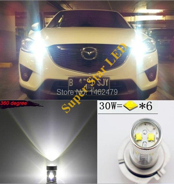 2 шт. 6000K Ксеноновые белые высокомощные чипы XBD LED P13W PSX26W лампы для автомобилей Mazda CX-5 2012-2014 дневные ходовые огни