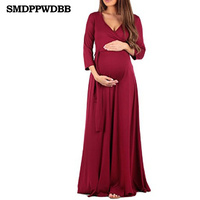 SMDPPWDBB Maternity Clothing Soft Dress clothes for Pregnant Women Maternity Dresses Long Dresses Pregnancy Women's dress Summer