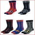 Women Diamond Superman Men Socks Marvel DC Comics Avenger American Captain Deadpool Punisher Batman Funny Long Socks Novelty