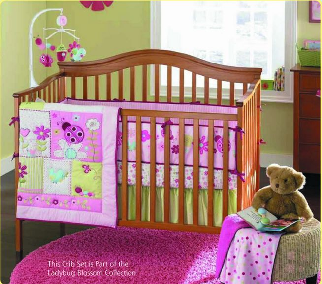 Promotion! 4pcs Embroidery Crib Baby Bedding Sets Crib Bedding set,include (bumpers+duvet+bed cover+bed skirt)