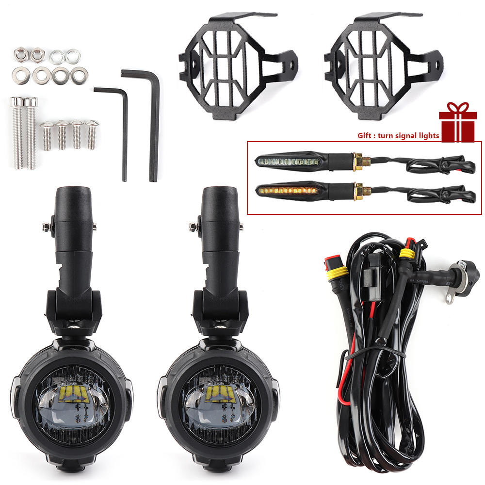 Motorcycle fog lights For BMW R1200GS ADV F800GS F700GS F650GS K1600 LED Auxiliary Fog Light Assemblie Driving Lamp 40WMotorcycle fog lights For BMW R1200GS ADV F800GS F700GS F650GS K1600 LED Auxiliary Fog Light Assemblie Driving Lamp 40W