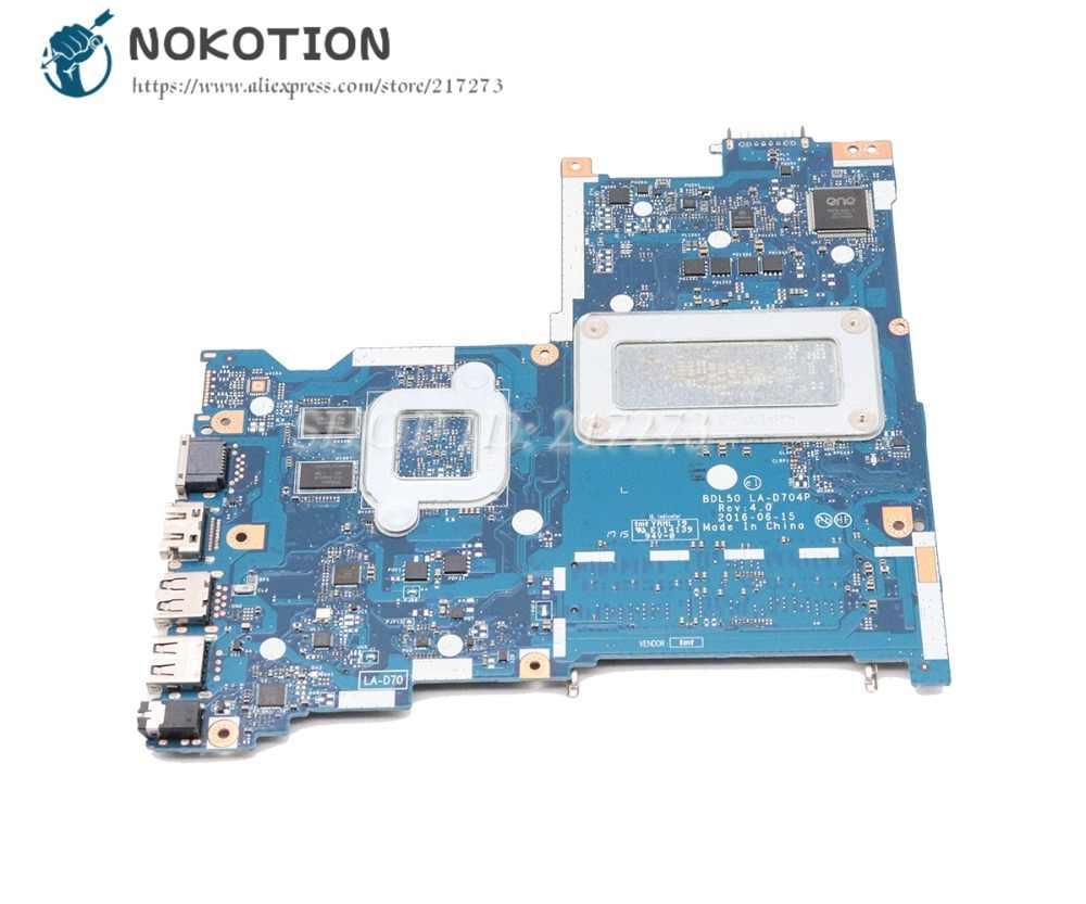 NOKOTION עבור HP 15-AY 15-ay015ds מחשב נייד Motherbard SR23Y I5-6200U מעבד BDL50 LA-D704P 854936-601 854936-001 r5 M330 וידאו כרטיס