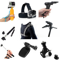 Accessories Bundle for Gopro Hero 7/6/5/4/3/3+/2/1 Session + LCD / EKEN V8S H8 H8R W9R W9S H9 H9R H3R H3