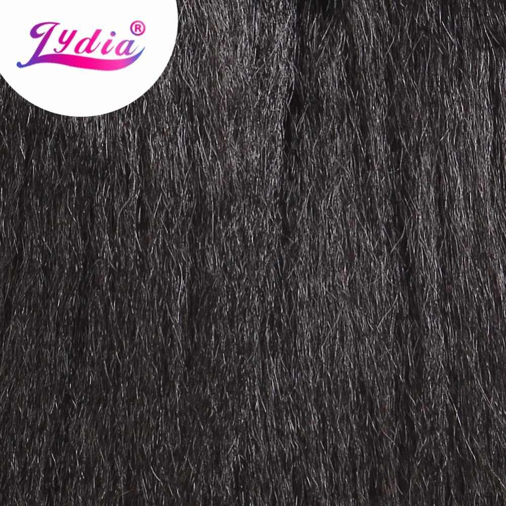 Лидия 1 шт./упак. кудрявые Прямые Волосы Ткачество 12-24 дюймов чистый цвет синтетические волны Наращивание волос черная, женская, для волос пучки
