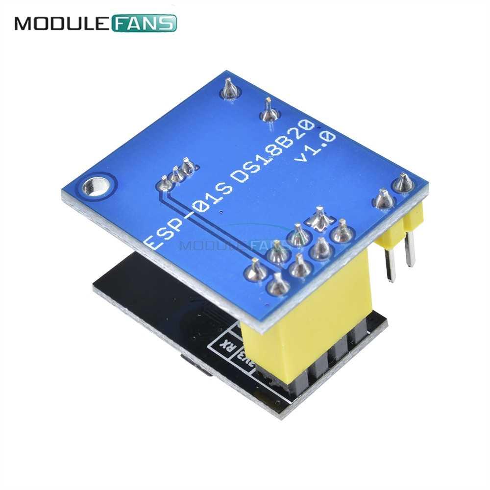 ESP-01/ESP-01S ESP8266 DS18B20 טמפרטורת חיישן מודול NodeMCU מתאם לוח לarduino UNO R3 IOT Wifi אלחוטי