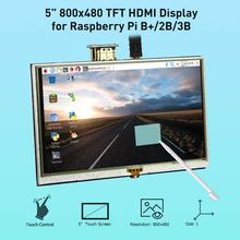 Hot Sale 5 Inch LCD HDMI Display Monitor HD 800x480 TFT Panel Module for Raspberry Pi 2B 3B with Touch pen