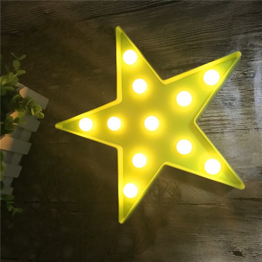 Us 8 79 20 Off Led Star Hang Up Night Light Bedside Desk Lamp Children Christmas Gifts Bedroom Home Party Holiday Decor Lighting Aa Battery In Led