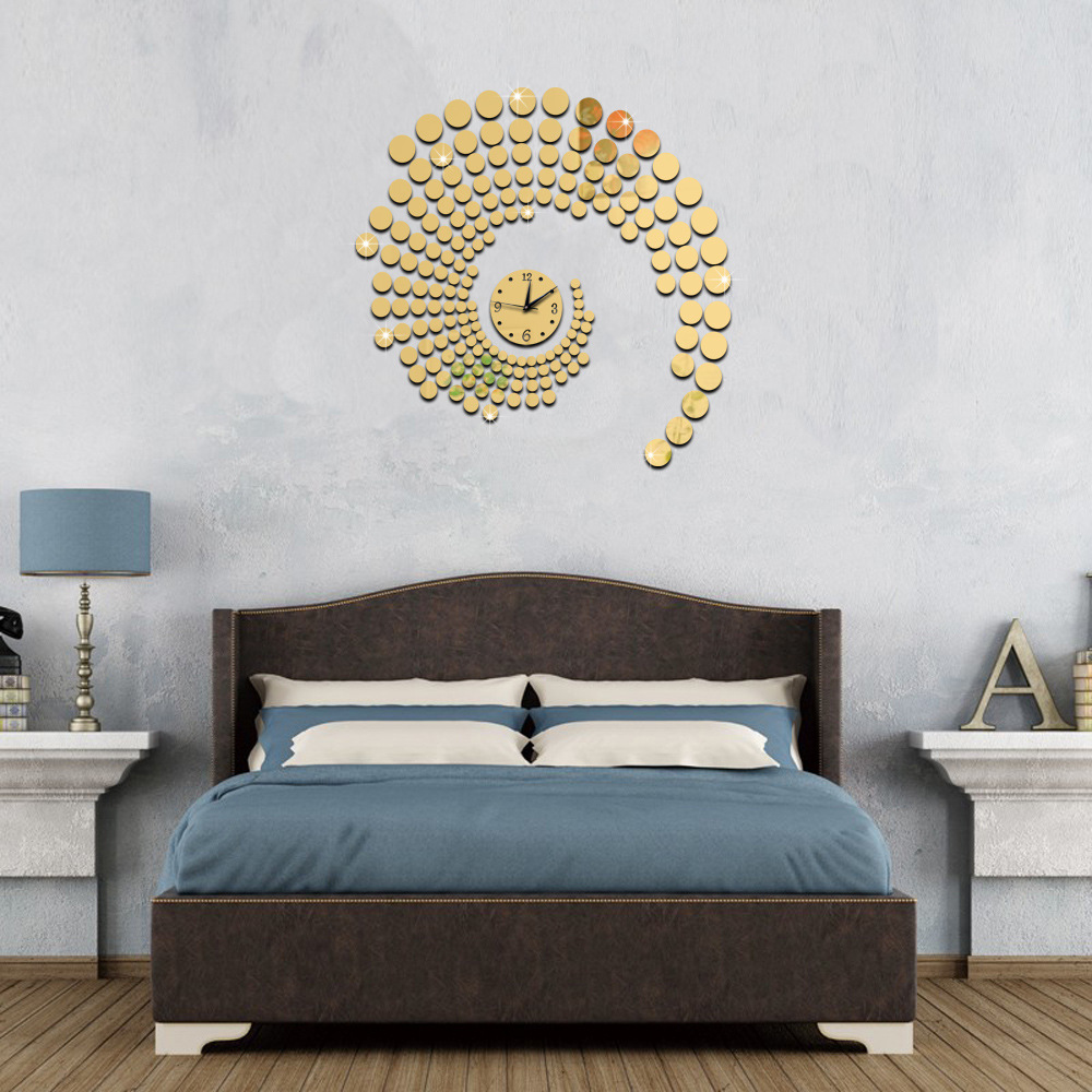 3d circle mirror wall stickers large decorative wall clocks home 3d circle mirror wall stickers large decorative wall clocks home living room clock wallpaper murals plastic mirror clock decal in wall clocks from home amipublicfo Choice Image