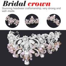 Unique 2018 New Fashion Crown Tiaras Light Gold Diadem for Women Wedding Hair Accessories