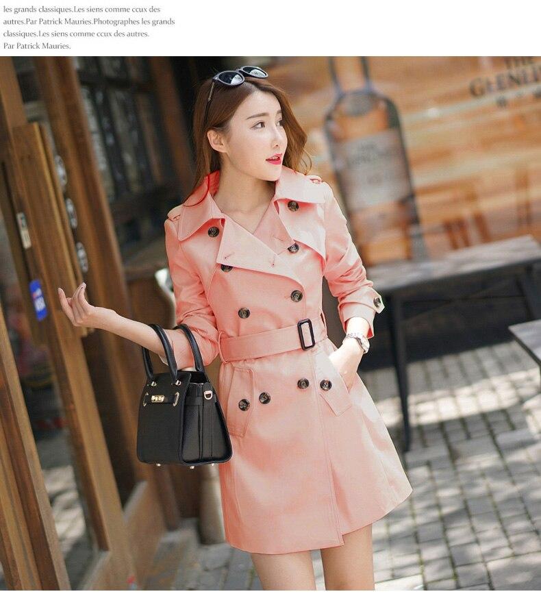 7cf3cfde4a8 2017 Autumn Trench Coat Plus Size 5XL Slim Lapel Epaulet Double ...
