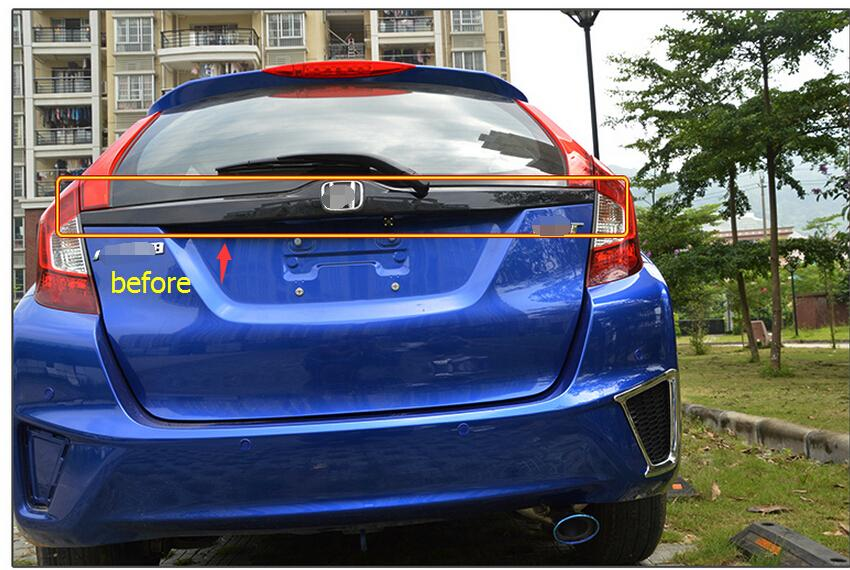 new accessories For Honda FIT jazz 2014 2015 2016 ABS Rear Trunk Lid Cover Trim 1 pcs car rear trunk security shield cargo cover for volkswagen vw tiguan 2016 2017 2018 high qualit black beige auto accessories