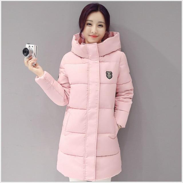 2017 New Arrival Casual Warm Long Sleeve Ladies Basic Coat jaqueta feminina jacket women parkas cotton Women Winter Jacket