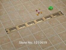 Ti-gold пластина 90*10 см ванная комната трапных ситечко прямоугольник моды душ drainer