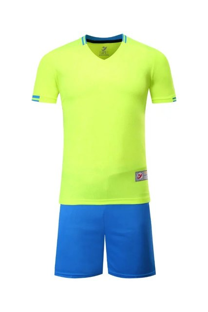 Fluorescent g Boys Kids Training T-shirts children sets runing football kits soccer team jersey Sports Athletic wear polo shirt