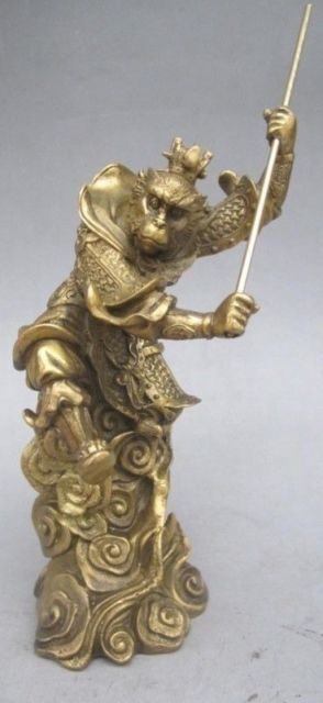 Chinese folk art bronze sculpture of the legendary figure Monkey NC