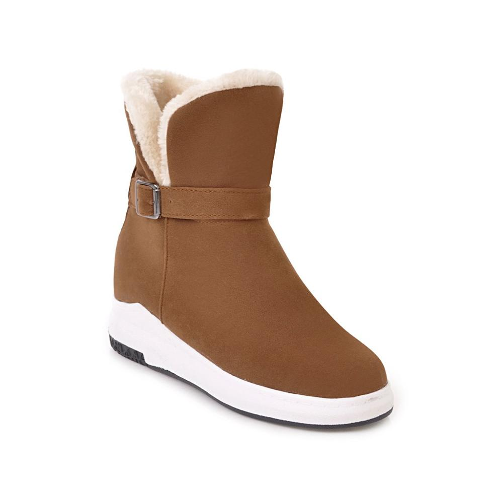 Dropwow Women Half Boots Winter Short Boot Warm Shoe Flat Botas ... 51754589829d