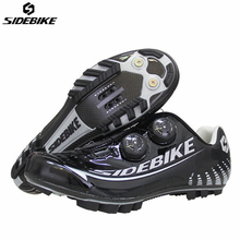 SIDEBIKE Carbon Fibre Cycling Sneaker Men MTB Cycling Shoes Mountain Bicycle Bike Self-locking Racing Shoes Sapatilha Ciclismo