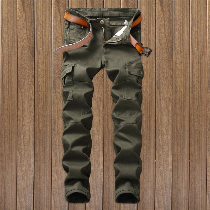New Arrival High Quality Army Green Motorcycle Denim Biker