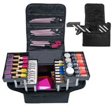 Travel Portable Cosmetic Storage Box Women Large Capacity Professional Makeup Or
