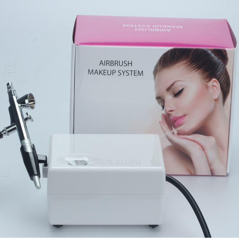 ФОТО 2017 New Makeup airbrush / HD Makeup Airbrush Makeup Kit / Beauty Nail / Airbrush Tattoos / rotation Regulating the mini pump