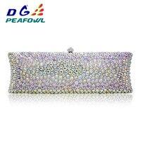 Fashion Colorful Crystal Woemn Handbag Diamond Magazine Clutch Recycled Gift Clutch Bag Wedding Evening Clutch Bag Purse Wallet