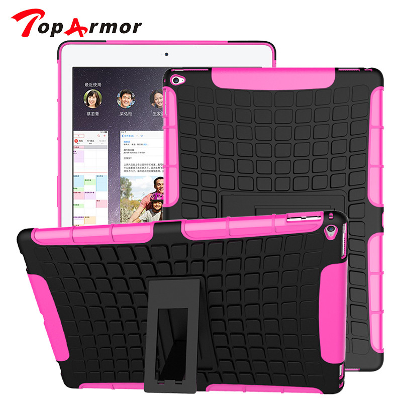 Tire Pattern Robot Silicon Heavy Duty Rugged Armor Hybrid Kick-Stand TPU + PC Shockproof Cover Case For Apple ipad pro 12.9 inch for apple ipad 9 7 2017 case with stand shockproof silicone hard pc heavy duty rugged armor defender cover for new ipad 9 7 2017