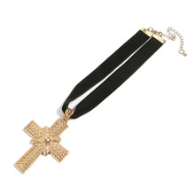 Fashion Trendy Necklaces 2019 Cross European And American Alloy Necklace Women&Men Chain Gothic jewelry Accessories Wholesale american gothic